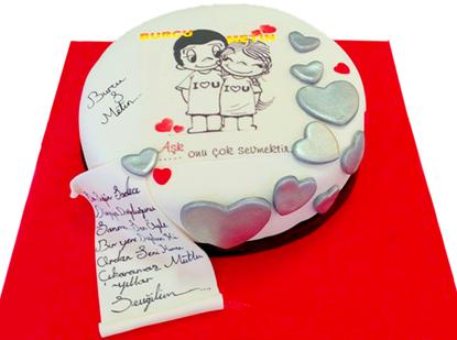 Sevgililer Günü Pastası #1 resmi